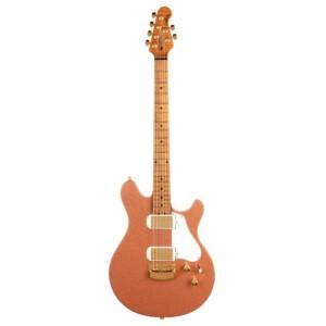 גיטרה חשמלית Music Man Valentine Hardtail צבע Pink Champagne