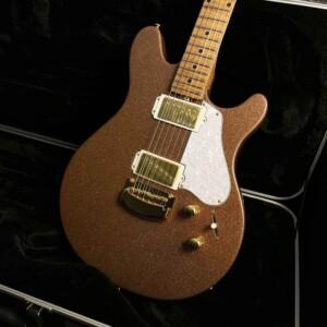גיטרה חשמלית Ernie Ball/Music Man Valentine Trem, Pink Champagne Sparkle, Maple