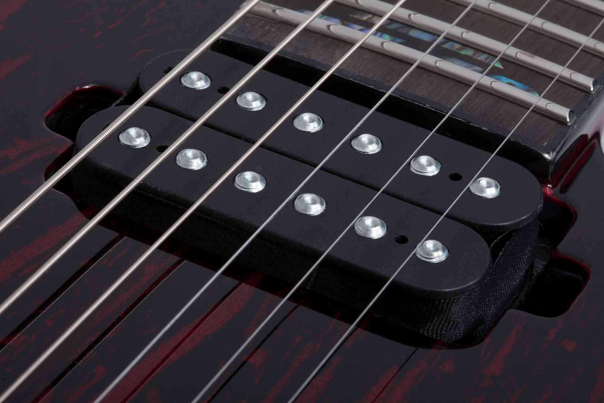 גיטרה חשמלית Schecter C-1 Silver Mountain Blood Moon