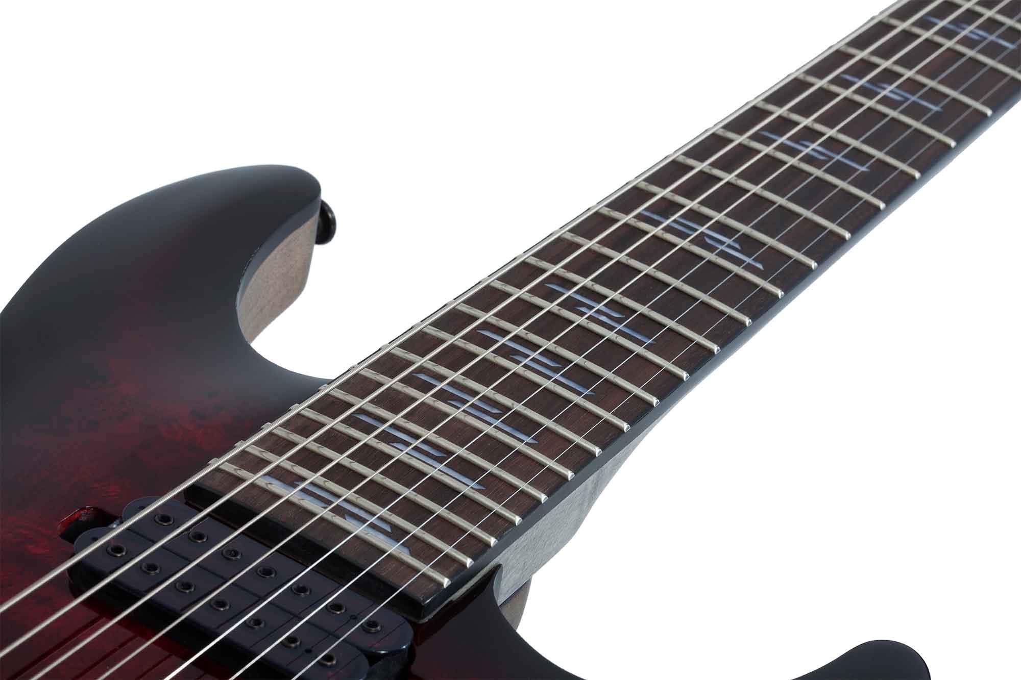 גיטרה חשמלית Schecter Omen Elite-7, Black Cherry Burst