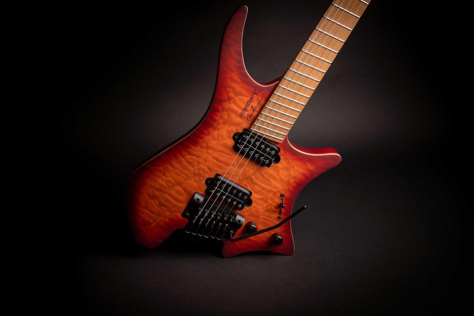 גיטרה חשמלית Strandberg Boden Standard 6 Tremolo LE Red Burst